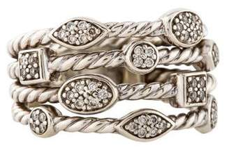 David Yurman Diamond Four Row Confetti Ring