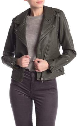 Blank NYC BLANKNYC Denim Faux Leather Moto Jacket