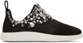 Giuseppe Zanotti Black Singleg Slip-On Sneakers $1,295 thestylecure.com