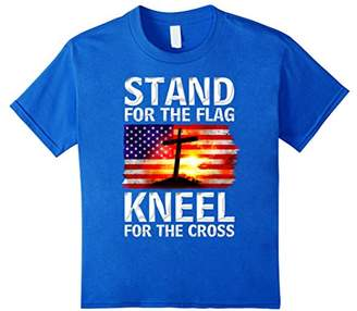Stand For The Flag Kneel For The Cross Christian T-Shirt