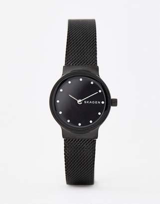 Skagen SKW2747 Freja mesh watch in black 26mm