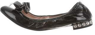 Miu Miu Patent Leather Bow Flats