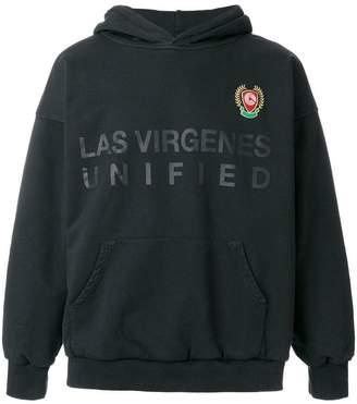 Yeezy hooded crest-logo sweater