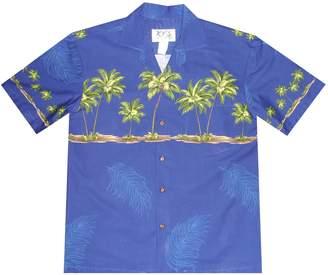 16bcb161 Kys Aloha Palm Trees Beach Wear Hawaiian Shirts (2XL, Navyblue)