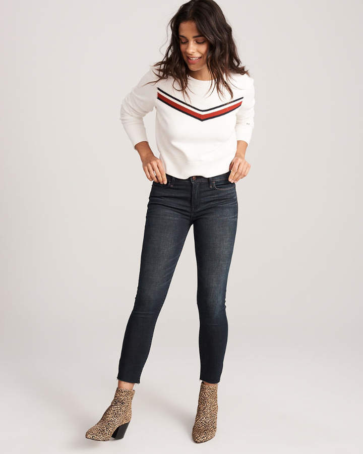 Low Rise Ankle Jeans