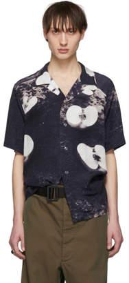 Christian Dada Blue Nobuyoshi Araki Edition Apple Print Shirt