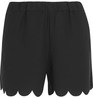 Madewell - Scalloped Crepe Shorts - Black $55 thestylecure.com