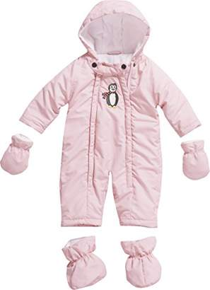 Playshoes Baby Girls 0-24M Fleece Lined Overall Penguin Snowsuit,6-12 Months (Manufacturer Size:6-9 Months (74cm))