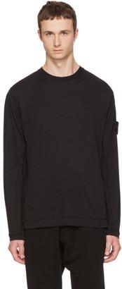 Stone Island Black Long Sleeve Logo T-Shirt $180 thestylecure.com
