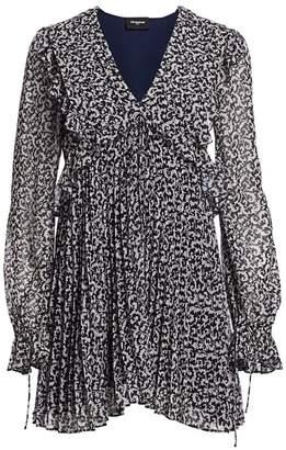 The Kooples Printed Pleated Mini Dress