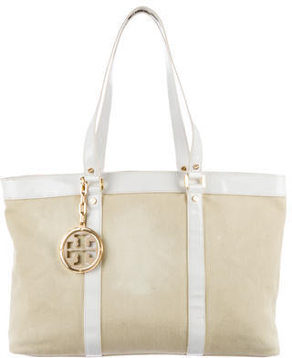 Tory BurchTory Burch Leather-Trimmed Canvas Tote