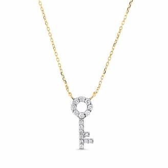 Cosanuova Key Necklace 14k Yellow Gold