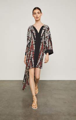 BCBGMAXAZRIA Abstract Chevron High-Low Dress