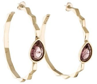 Christian Dior  Christian Dior Crystal Studded Hoop Earrings