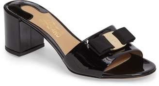 Salvatore Ferragamo Eolie Block Heel Bow Sandal