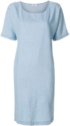 Closed bleached denim shift dress