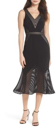Xscape Evenings Illusion Hem Trumpet Dress