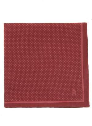 Dunhill Polka-dot print silk pocket square