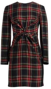 Maje Plaid Sheath Dress