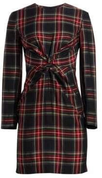 Maje Women's Plaid Sheath Dress - Checked - Size 4 (XL)