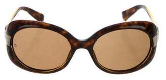 Giorgio Armani Oversize Tinted Sunglasses Brown Oversize Tinted Sunglasses