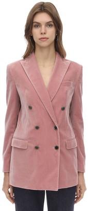 Tagliatore Jasmine Oversize Stretch Velvet Jacket