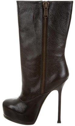 Saint LaurentYves Saint Laurent Patent Leather Platform Boots