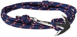Miansai Silver Anchor Rope Bracelet
