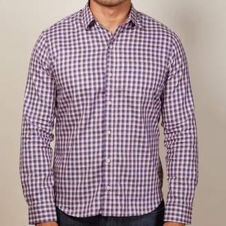 Blade + Blue Purple, Pink & White Check Shirt - Patrick
