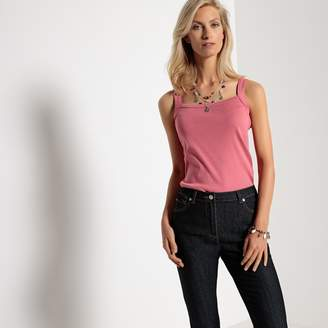 Anne Weyburn 100% Combed Cotton Vest Top