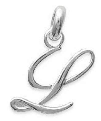 So Chic Jewels - 925 Sterling Letter L Initial Pendant