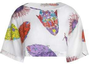 Emilio Pucci Cropped Printed Mousseline Top
