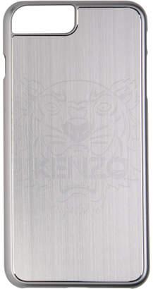 Kenzo Silver Aluminium Tiger Head iPhone 7 Plus and 8 Plus Case