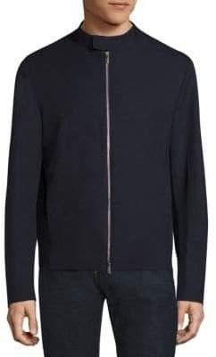 Giorgio Armani Bonded Wool Effect Microfiber Jacket