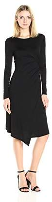 Three Dots Women's Long Sleeve Drape Dress
