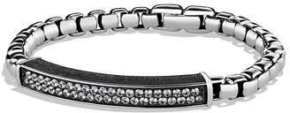 David Yurman Pavé ID Bracelet with Gray Sapphires