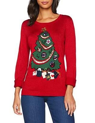 Yumi Women's Christmas Tree Jumper,10 (Size:S)