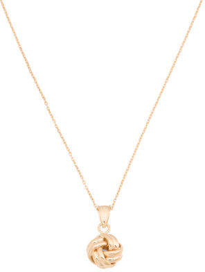 Made In Italy 14k Gold Love Knot Necklace