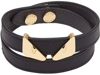 Fendi Bag Bugs double-wrap bracelet