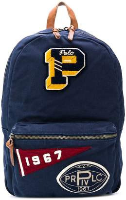 Polo Ralph Lauren patched backpack