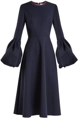 Roksanda Aylin bell-cuff stretch-crepe dress