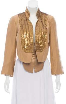 Robert Rodriguez Cropped Embellished Jacket