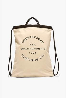 Country Road Organic Drawstring Backpack
