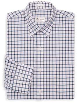 Peter Millar Checkered Cotton Dress Shirt