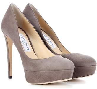 Jimmy Choo Ellis 120 suede plateau pumps