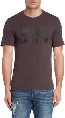 Love Moschino Love & Peach Logo Tee