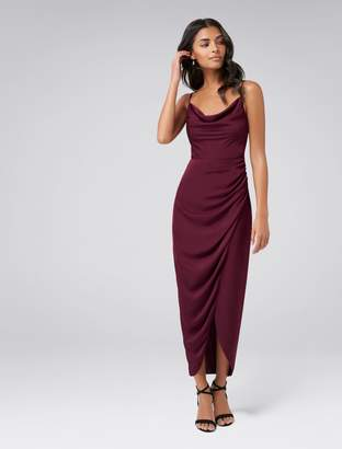 Forever New Holly Cowl Neck Midi Dress - Cherry Lips - 6