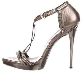 Versace Metallic Leather Sandals
