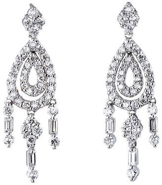 One Kings Lane Vintage Diamond Chandelier Drop Earrings - Precious & Rare Pieces