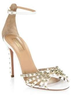 Aquazzura Bon Bon Leather Sandals